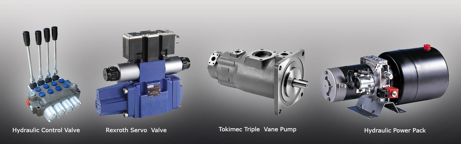 Control Valve, Servo Valve, Vane Pump and Power Pack